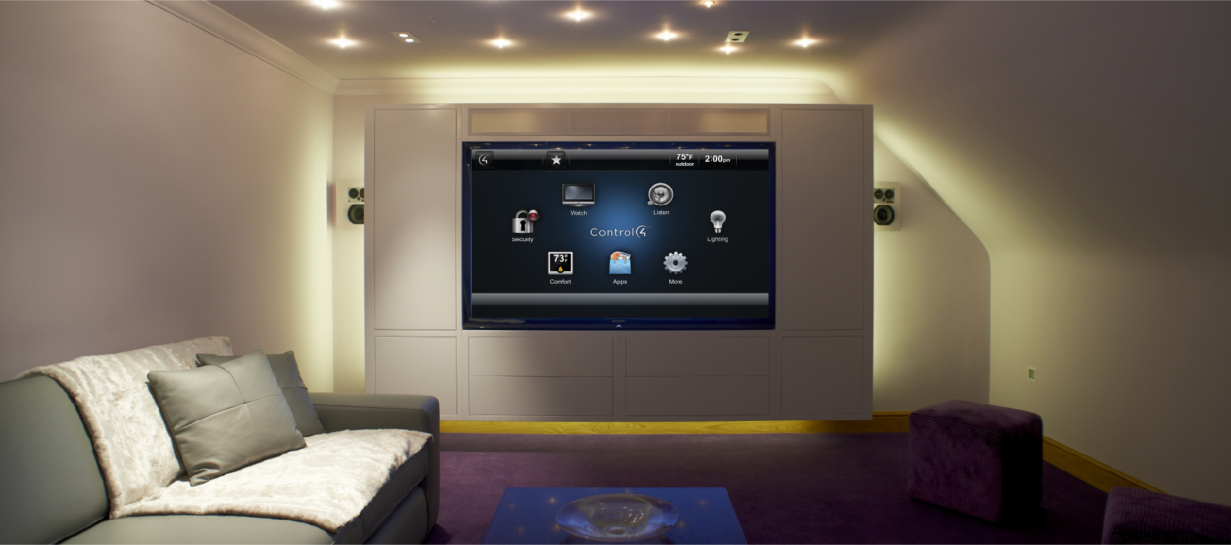 home cinema sur mesure malassise control4